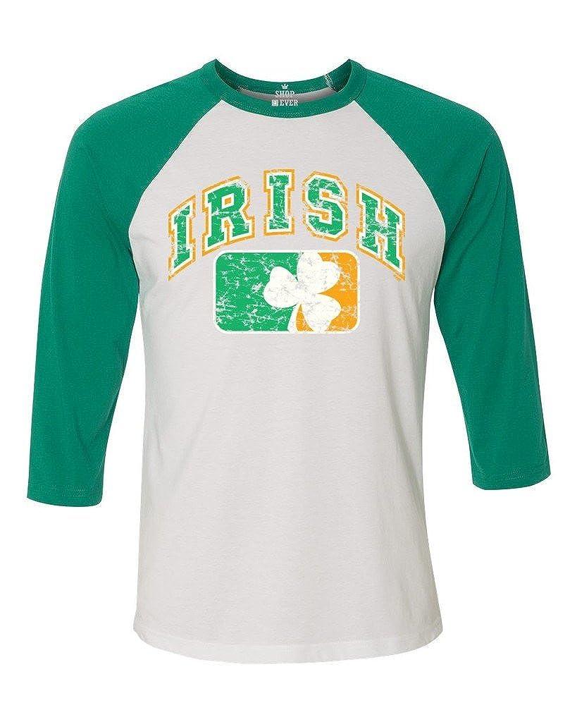 bb61659c Amazon.com: Shop4Ever Vintage Irish Flag Shamrock Baseball Shirt St. Patricks  Day Raglan Shirt: Clothing