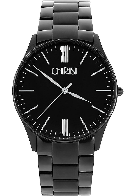 CHRIST times Herren-Armbanduhr Analog Quarz One Size - schwarz - schwarz