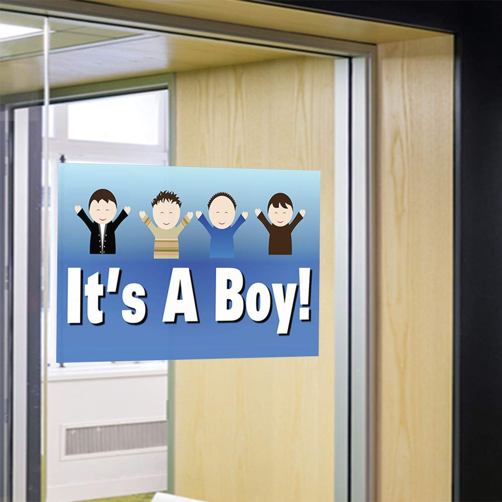 One Sticker Decal Sticker Multiple Sizes Its A Boy Business Lifestyle Boy Outdoor Store Sign Blue 69inx46in