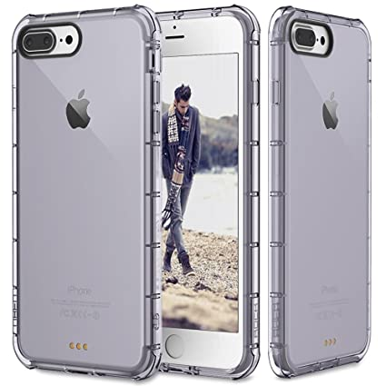 ROCK Fence Shockproof Transparent Back Case Cover for Apple iPhone 7 Plus [5.5 quot;]   Grey Mobile Phone Cases   Covers