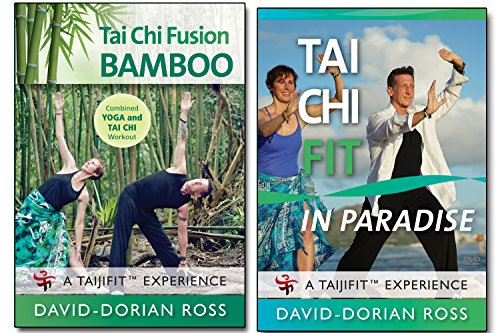 Bundle: Tai Chi 2-DVD set with David-Dorian Ross: BAMBOO Yoga /PARADISE workout 2018 **BESTSELLER**