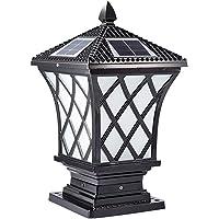 ACHNC Retro Lámpara de Jardín Solar, LED Faros de Columna Antiguo Post Cap Lights IP65 Vintage Farola de Exterior 2200…
