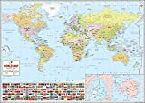 World's Best World Map - Laminated [52 x 37 inches]