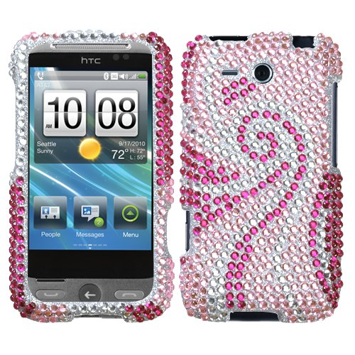 Freestyle Tail - Phoenix Tail Diamante Protector Cover for HTC Freestyle