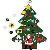 Árbol de Navidad de fieltro,24 piezas de adornos