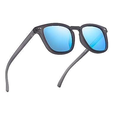 JIM HALO Gafas de Sol Polarizadas de Espejo Retro Clásico ...