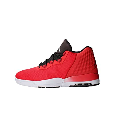 Nike Mens JORDAN ACADEMY, GYM RED/WOLF GREY-BLACK, 11