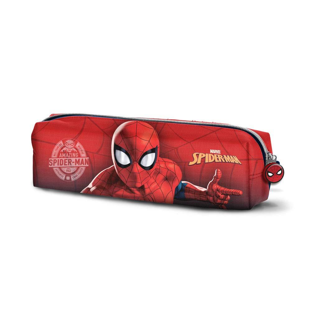 Red Karactermania Spiderman Spiderweb-Quadrat Federm/äppchen Trousses Rouge 22 cm