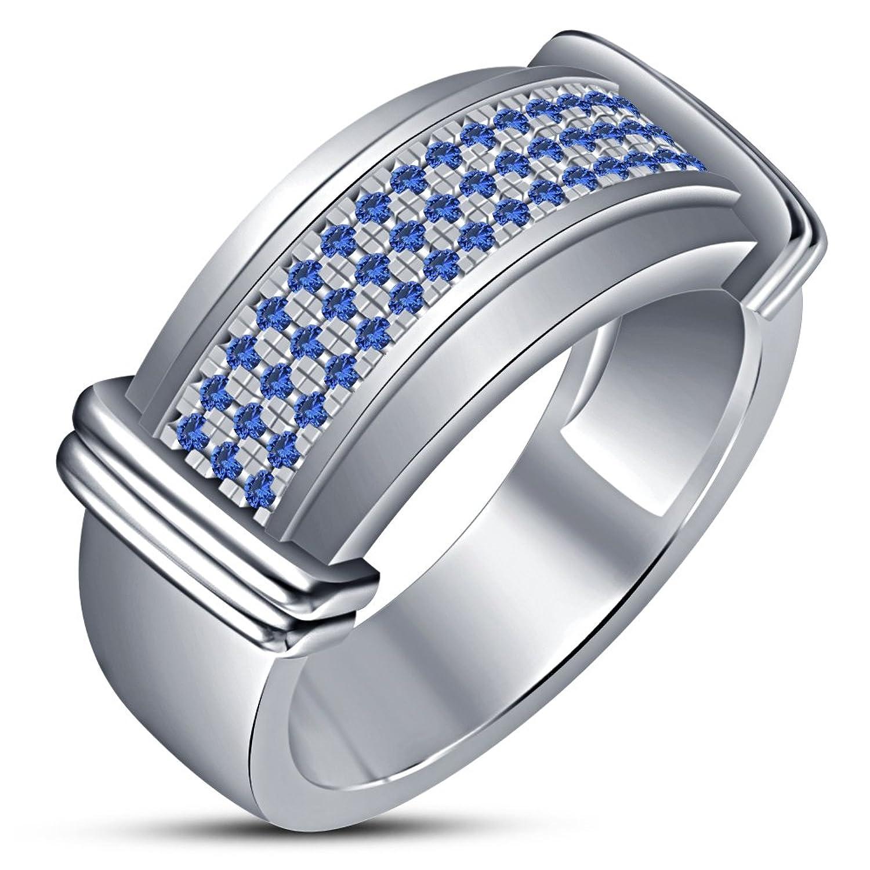 048e7033b Caliente de la venta Los hombres de moda Vorra anillo de RD corte zafiro  azul lujo