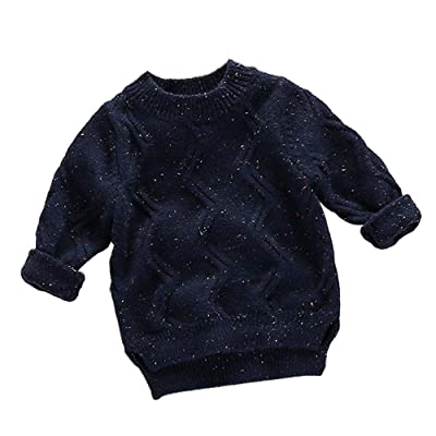 Birdfly Toddler Baby Flecked Sweater Textured Knit Warm Pullover Tops Kids Fall Winter Clothes Outfits
