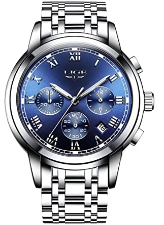 Amazon.com: Relojes de Hombre Cronógrafo De Cuarzo De Moda ...