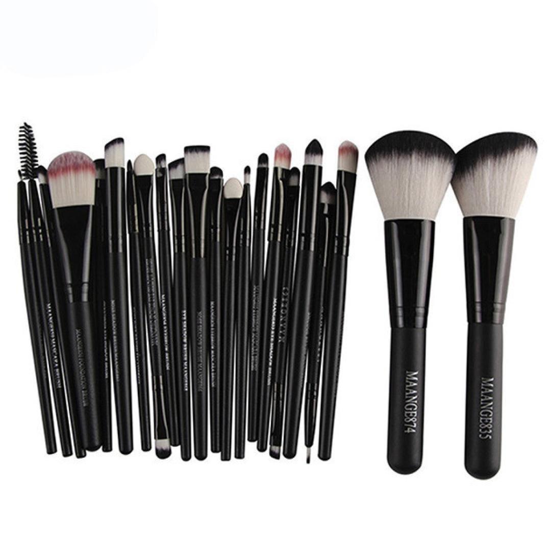 Amazon.com  22PCS Mermaid Makeup Brush Foundation Oval Brushes One Set for  Women (Black)  Beauty 69b8b7fce