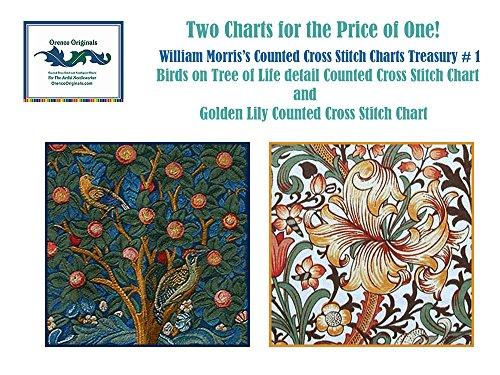 Orenco Originals William Morris Treasury #1 Counted X stitch Chart BONUS 2 charts fo. (Chart Needlepoint)