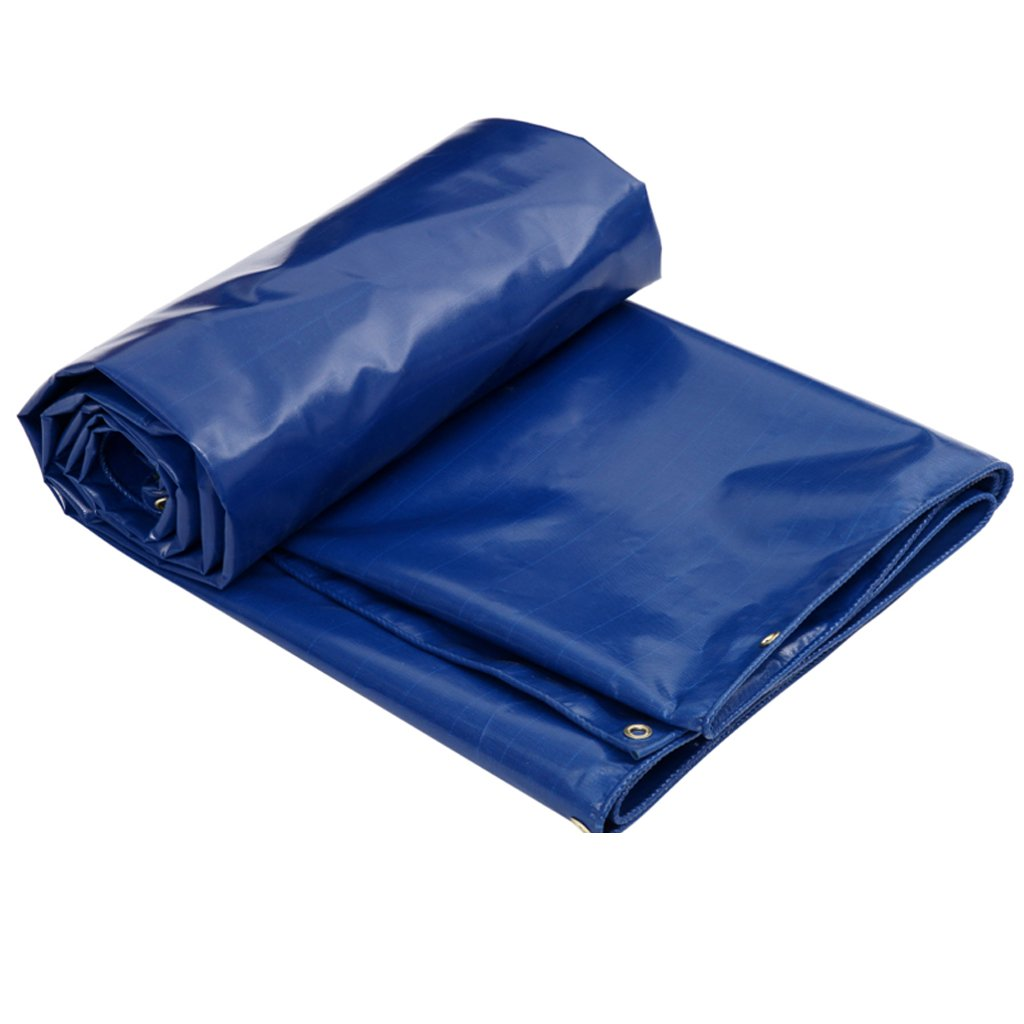 5m × 4m NYDZDM Lightweight PVC Coated Cloth blueee Thickness 0.5mm 520g m² Waterproof Sun Predection AntiWeathering Multifunction Shade Cloth Easy to Carry (Size   5m × 4m)