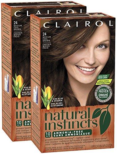 Clairol Natural Instincts Haircolor, 24 Medium Cool Brown 1