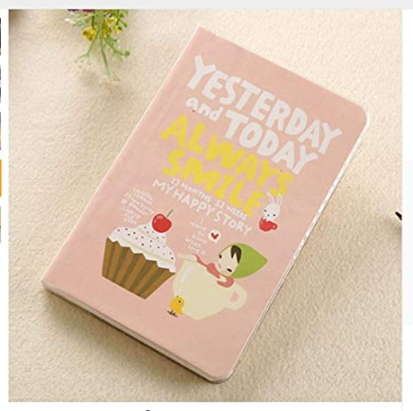 Amazon.com: Cute cuaderno rojo sombrero niña Agenda Semana ...