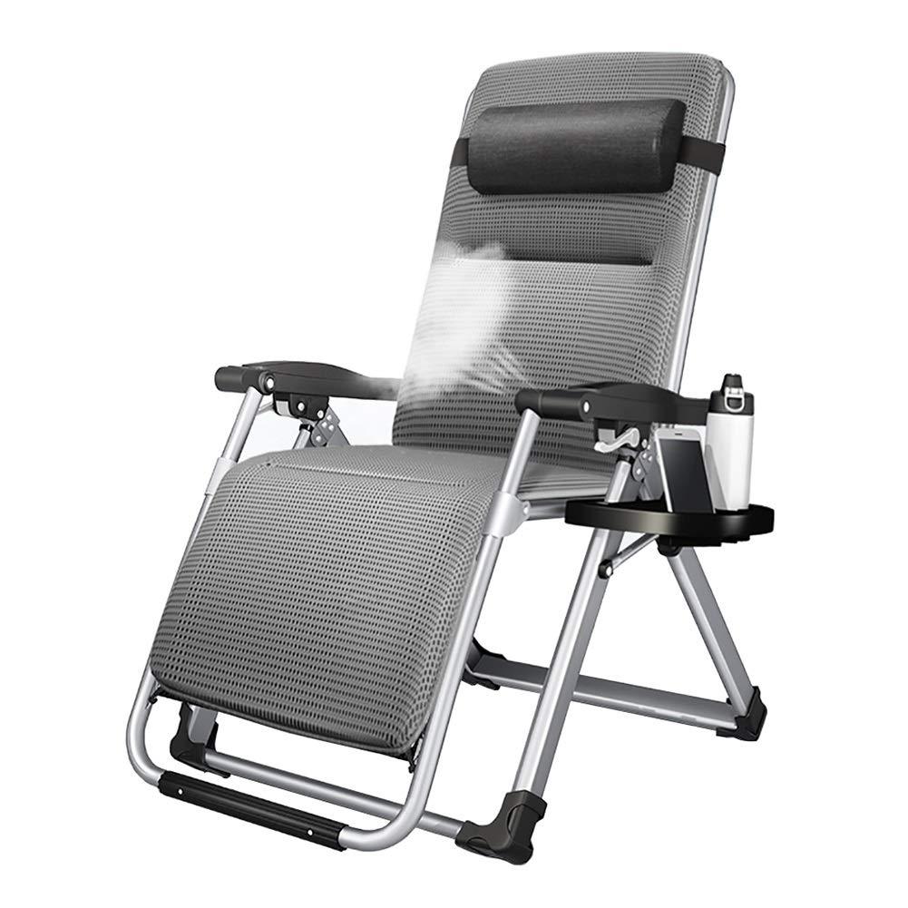 ラウンジチェア カップホルダー、ゼロ重力スポーツ無限ゼロ重力椅子、サポート330 lbs付きグレー特大リクライニングパティオチェア B07TBQ6169