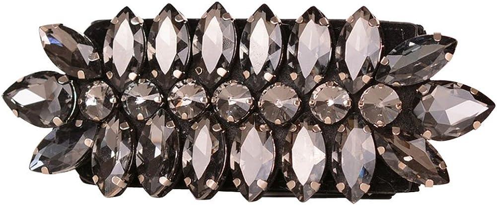 Fashion Crystal Rhinestone Wide Elastic Wasit Belt Stretch Waistband for Clothing