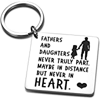 Father Daughter Keychain Dad Fathers Day Christmas Birthday Valentine Day Wedding Gifts from Daughter to Dad Daddy Papa…