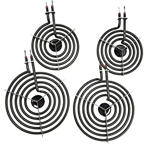 "Cooking Appliances MP22YA Electric Range Burner Element Unit Set 2- MP15YA 6.5"" 2- MP21YA 8"" 3"