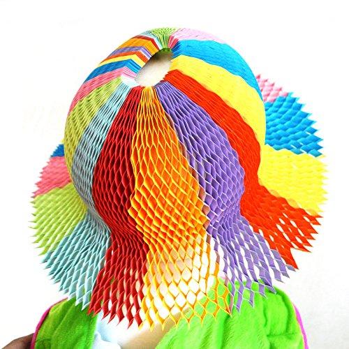 Senhui 5pcs Novelty DIY Fashion Neutral Paper Sun Flower Vase Touring Coconut Travel Hats Caps Party Favors Supplies for Children Adults (B style) (Pinch Vase)