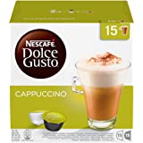 NESCAFÉ DOLCE GUSTO Cappuccino Coffee Pods, 30 Capsules (Pack of 3 - Total 90 Capsules, 45 Servings)