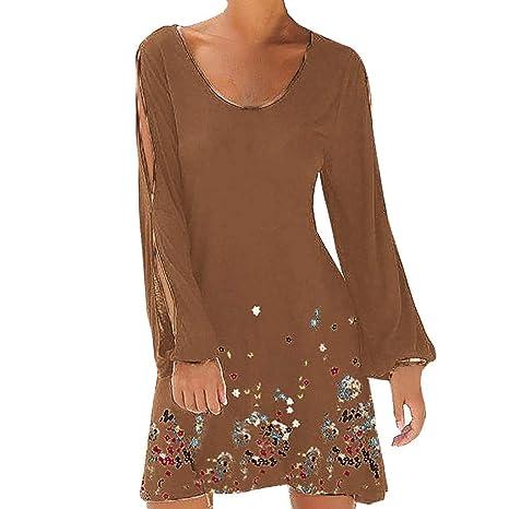 Sillor Minikleid Damen Rundhals Hohl Laterne Lange Ärmel Einfarbig Strand Stil Casual Mini Gerade Rock Casual Party Kleider