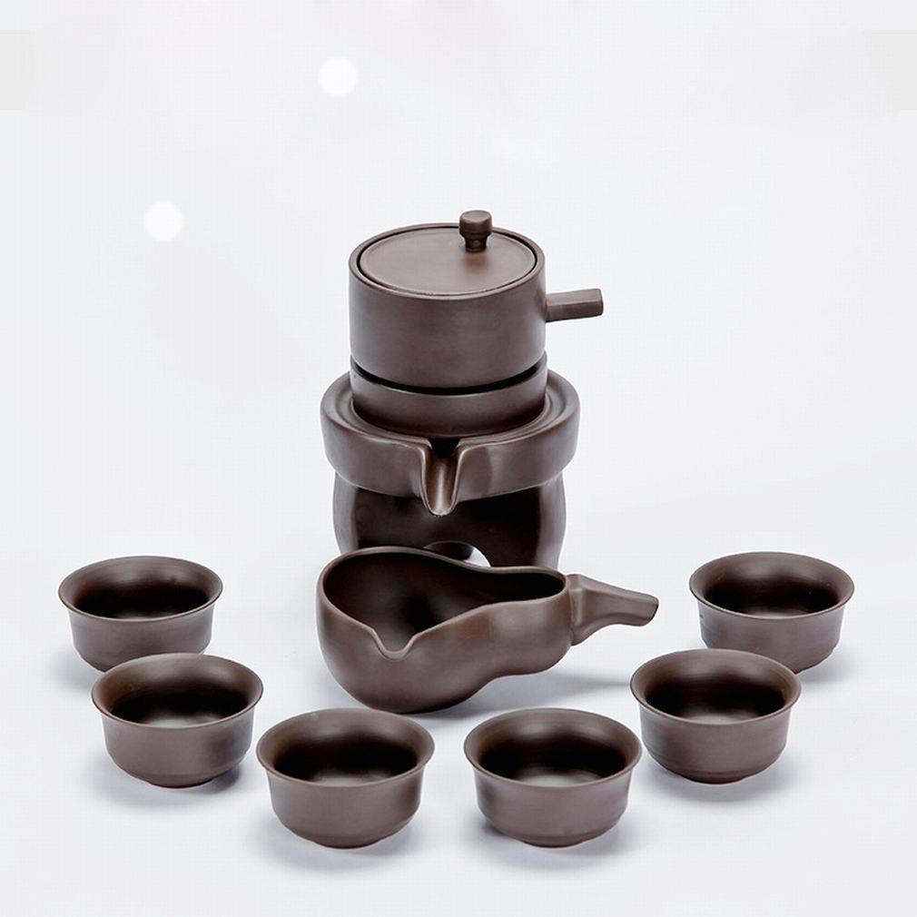 L Y Retro-Zeit Automatische Tee Set Faule Tee Kreative Stein Lila Tee Angepasst