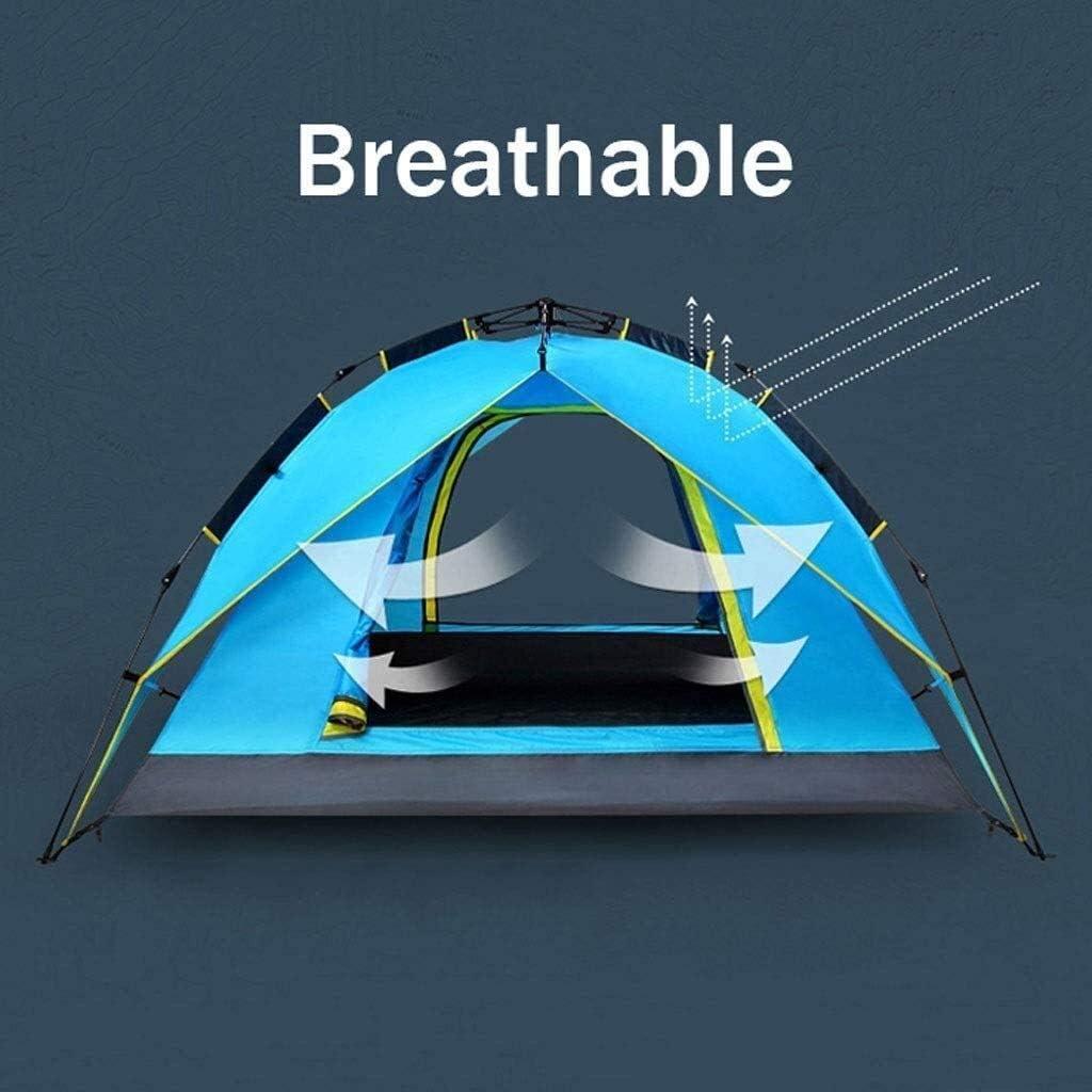 YYDD Tentes familiales for Camping, Double Couche Rapide Ouverture Tente Thicken Tente Camping imperméable Ventilation Durable Facile à Installer Rapidement (Color : A) A