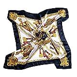 head scarves for women - Sanwood Women's Neckerchief Large Square Scarf Headdress (Black-13543)