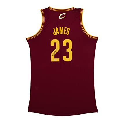 timeless design ddd4a 8e96e LeBron James Signed Cleveland Cavaliers Authentic Adidas ...
