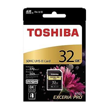 Amazon.com: Tarjeta de memoria SD Toshiba 32 GB EXCERIA PRO ...