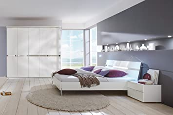 Dreams4Home Schlafzimmerkombination \'Andria\' Schrank, Bett, 2 x ...