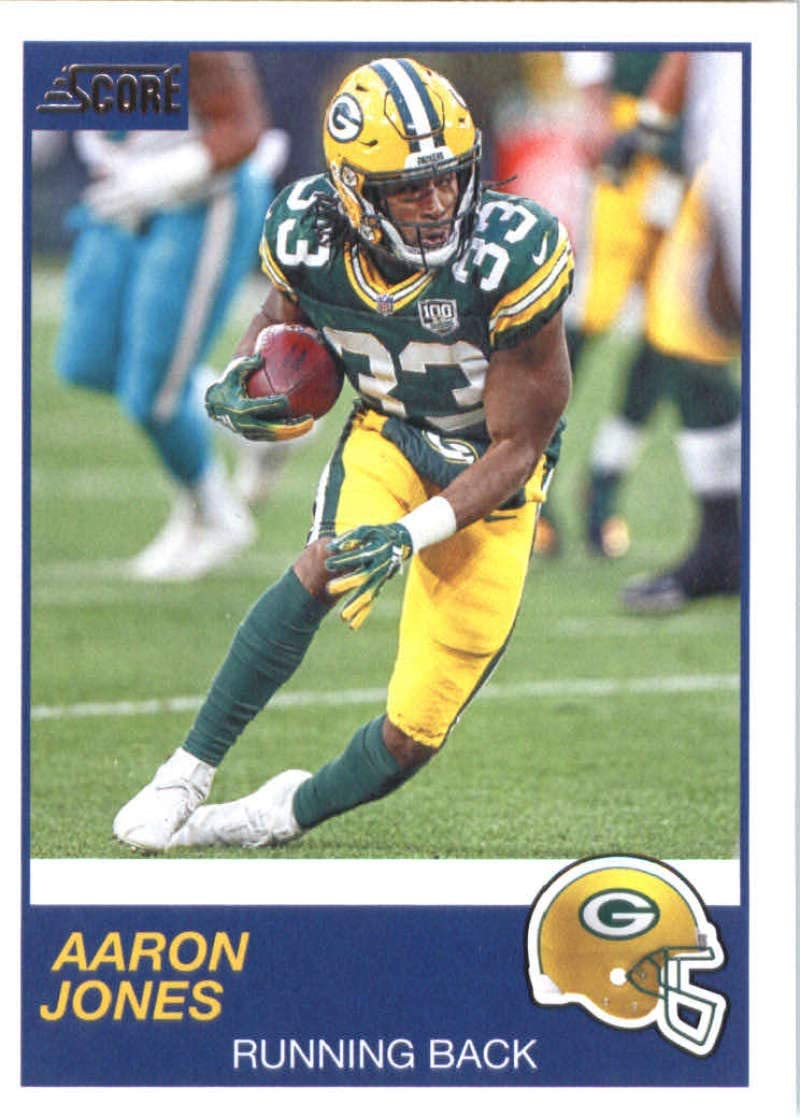 Amazon Com 2019 Score Football 224 Aaron Jones Green Bay Packers Official Nfl Trading Card Made By Panini Collectibles Fine Art