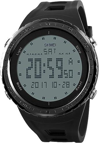 Lige – Reloj Digital para Hombre con Hora Dual Alarma función de ...