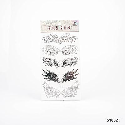 Tatuajes con diferentes alas en blanco y negro