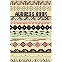Address Book: Boho Pattern Design - Email Address Book - Alphabetical With Tabs Portable Size (6x9) 106 Pages Over 400+ Record Contact to sign in (Small Address Book)