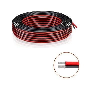 Cable eléctrico de calibre 20 AWG Cable de extensión 18 pies / (5.5M rojo ...