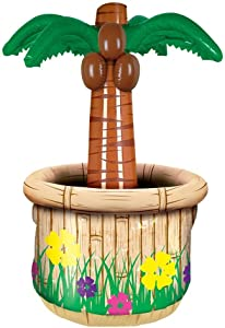 Beistle Inflatable Palm Tree Cooler, 18 by 28-Inch, Multicolor