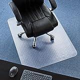 P2U 36'' x 48'' Polyvinyl Chloride(PVC) Rectangular Chair Mat for Carpets
