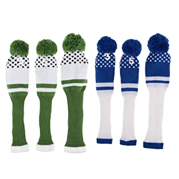 SM SunniMix 6-Pack Golf Driver Head Cover Fairway Headcover ...
