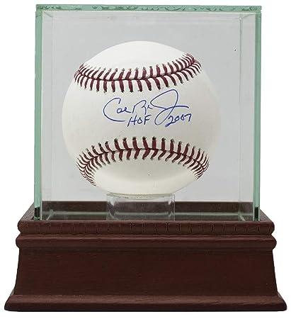 017109136a4 Cal Ripken Jr. Signed MLB Baseball HOF 2007 w Glass Display Case JSA ...