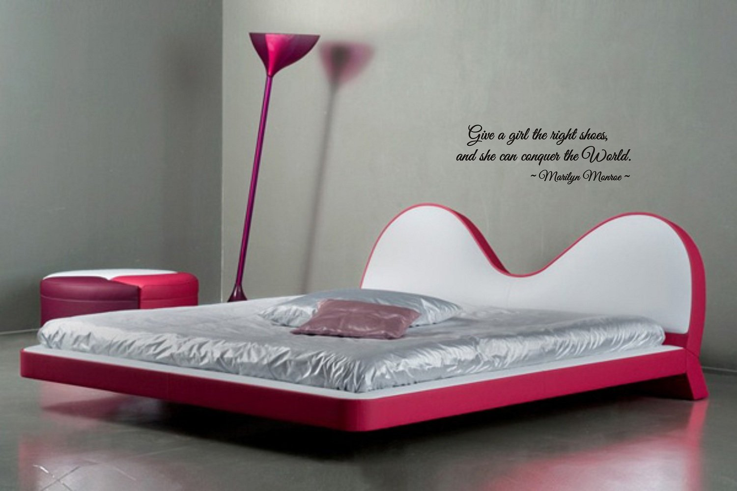 Amazon.com: Give A Girl The Right Shoes And She Can Conquer The World Marilyn  Monroe Wall Art Wall Sayings: Kitchen U0026 Dining Part 72