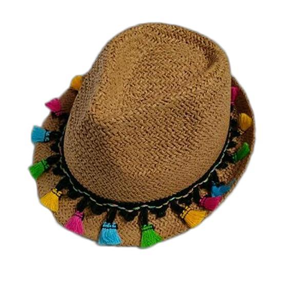 Leisial Sombrero para el Sol Moda Ocio Sombrero de Paja Playa Sombrero del  Jazz Gorro Visera para el Aire Libre Viaje Verano Primavera para Chicas  Chicos  ... 4dcdd989600
