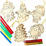 Kid Friendly Decorate Your Own Holiday Ornament Crafting Kit - Makes 30 Ornaments