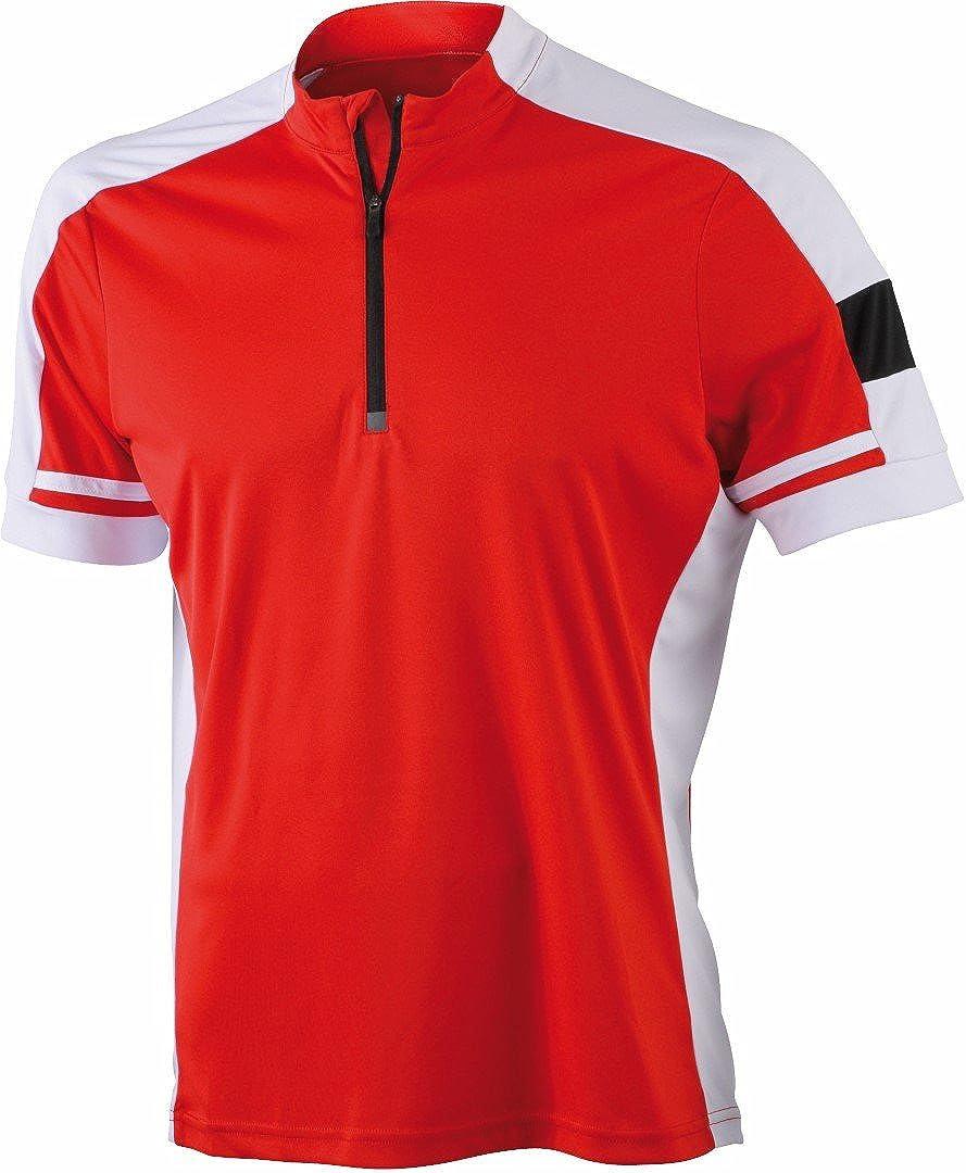 James /& Nicholson Herren Sport Top Trikot Mens Bike-T Half Zip
