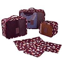 Embalaje Cubo 6 Conjunto Impermeable Viajes Almacenamiento Bolsa Malla Compresión Equipaje Organizador Ligero Vario Tamaño Con Ropa Bolsa Shoe Bolsa Para Accesorio Organizador