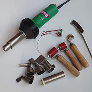 Hot Air Plastic Welding Gun With Rollers Penny Roller 2pcs Flat Nozzle Brush And Spare Heat Element With Mica Tube 110v Plastic Welder Type 2 Amazon Com
