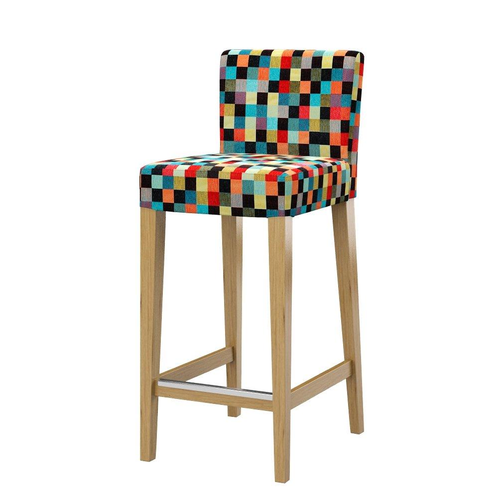 Soferia Mozaik Red IKEA HENRIKSDAL Housse Pr Tabouret Bar avec Dossier