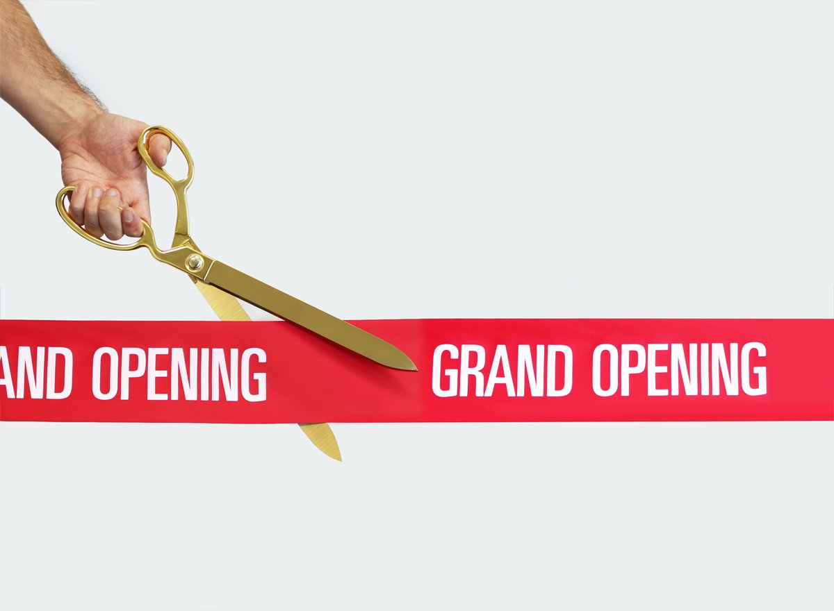FREE Grand Opening Ribbon with 15'' Gold Plated Ceremonial Ribbon Cutting Scissors by Engraving, Awards & Gifts